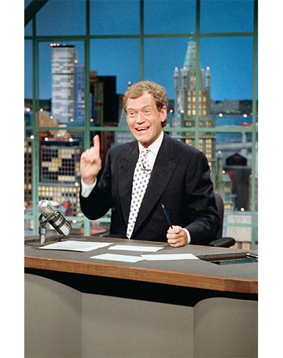 Další světlý bod: David Letterman a jeho ikonické dvouřadé obleky, které se skvěle hodily k jeho osobnosti.
