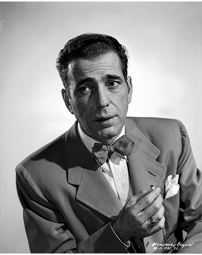 Humphrey Bogart: největší filmová hvězda dekády stále zůstává jedním z nejzářnějších příkladů vyznavačů nadčasového luxusního stylu.