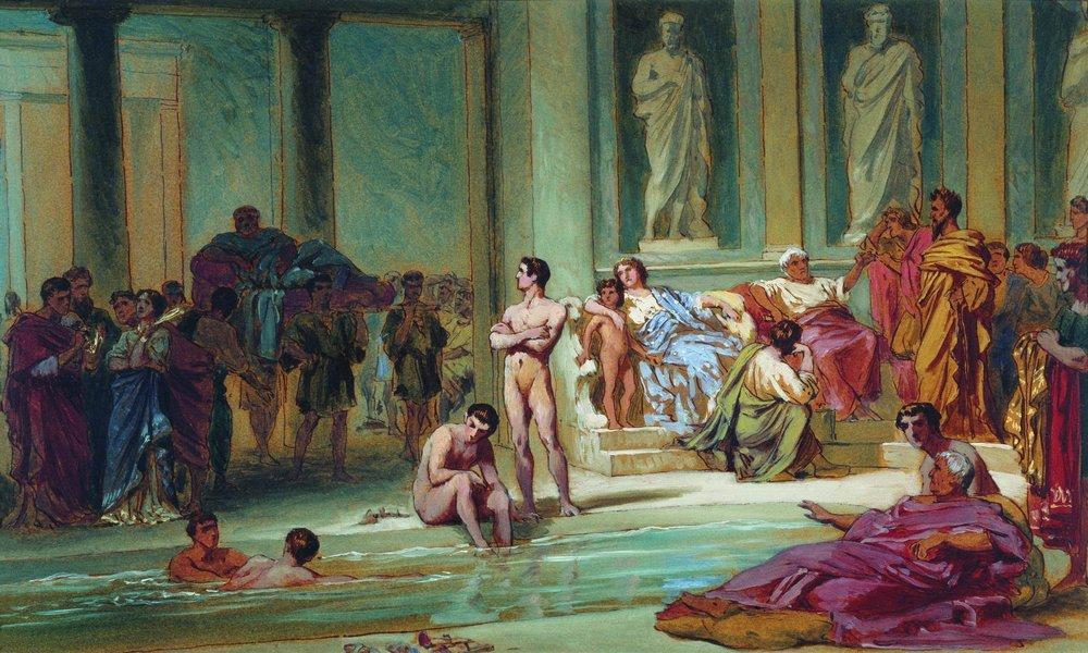 in-the-roman-baths-1865