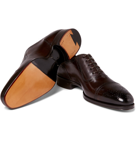 Tom Ford Austin Cap-Toe Burnished-Leather Oxford Brogues 35 000 Kč