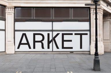 Připravovaný store Arket na Regent Street v Londýně.