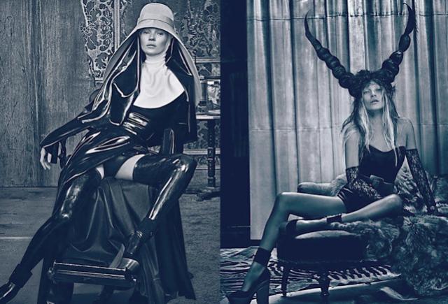 Kate Moss nafocena Stevem Kleinem pro W Magazine.