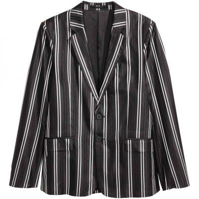 Pruhované hedvábné sako, H&M