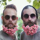 Muži s květinami - flower-beard1galerie1