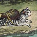 20 středověkých svědectví o divné povaze koček - rocket-cat-11