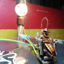 Poprava švába na elektrickém křesle -