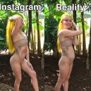 Mladá bloggerka vtipně ukazuje, jak se liší realita od fotografií na Instagramu - 03
