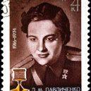 Lady Smrt – Ljudmila Pavličenko - pav-1976-stamp