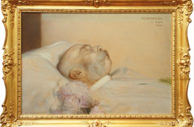 Císař František Josef I. na smrtelném loži (22. 11. 1916).