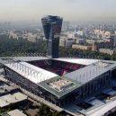Součástí nejbizarnějšího stadionu je mrakodrap. -