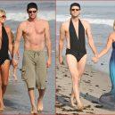 Co nejraději nosí Jim Carrey? Asi dámské plavky! - Carrey 2x v plavkách