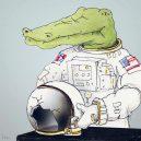 Krokodýlovy lapálie ve světě lidí - crocodile-life-animals-illustrations-keigo-japan-14-5b7a7ce4c39ab__700