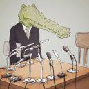 Krokodýlovy lapálie ve světě lidí - crocodile-life-animals-illustrations-keigo-japan-21-5b7a7cf9dd63b__700