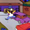 10 chyb v nesmrtelném seriálu Simpsonovi - HomerScreamDrivewayS1
