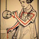 Elektřina a my. Bizarní způsoby, kterými vás mohl zabít elektrický proud - vintage-illustrations-ways-to-die-electrocution-14-5bf2696b0e08c__700