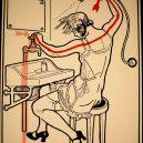 Elektřina a my. Bizarní způsoby, kterými vás mohl zabít elektrický proud - vintage-illustrations-ways-to-die-electrocution-17-5bf26972e23eb__700
