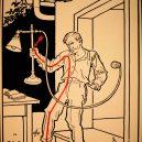 Elektřina a my. Bizarní způsoby, kterými vás mohl zabít elektrický proud - vintage-illustrations-ways-to-die-electrocution-25-5bf26988de676__700