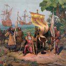 8 historických událostí, o kterých jsme se učili ve škole, ale nikdy k nim tak docela nedošlo - 1015px-Columbus_Taking_Possession