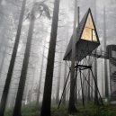 PAN. Jedinečné dřevěné kabiny v norských lesích představují ideální místo na odpočinek - The-Treetop-Cabin-By-PAN-Architects-0-Hero