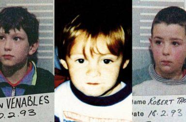 Robert Thompson, Jon Venables a jejich obět, teprv dvouletý James Bulger.