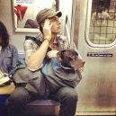Nové nařízení komplikuje život newyorským pejskařům. Podívejte se, jak vtipně si s problémem poradili - nyc-subway-dog4