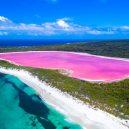 Pastelově růžové jezero připomíná rozšlápnutou žvýkačku - maxresdefault