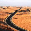 Fascinující záběry čínských dopravních staveb - 08 The Tarim Desert Highway