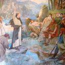 Původní obyvatelé Skotska – nedobytní potetovaní Piktové - Saint_Columba_converting_the_Picts