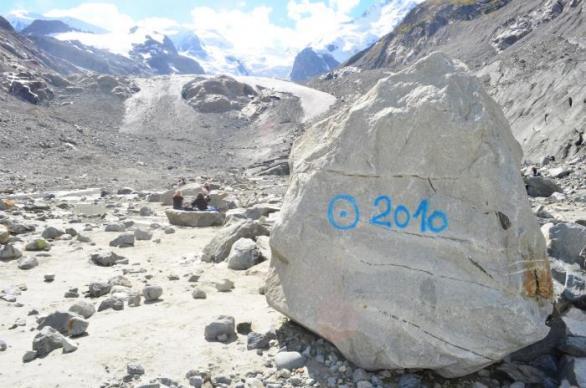 Sem sahalo čelo ledovce v roce 2010. Škoda, že nikdo nevyfotil, kam sahal ledovec v roce 1010 – pravděpodobně vůbec nikam.