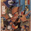 Krásné samurajky se v Japonsku meče rozhodně nebály - Tomoe_Gozen,_Wife_of_Kiso_Yoshinaka,_Defeating_Uchida_Saburo_LACMA_M.84.31.209