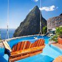 14 hotelových bazénů, ve kterých stojí za to se osvěžit - Resort Ladera, Svatá Lucie