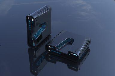 Přibližně takhle by podle uniklých materiálů konzole PlayStation 5 měla vypadat.