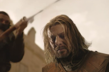 Ned Stark, Hra o trůny, useknutí hlavy (2011).
