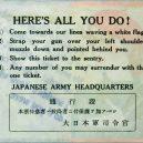 Nahá propaganda – letáky určené pro nepřátele Japonců - jpPleaseTicketB2