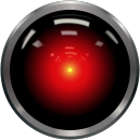 CIMON-2 inteligentní robot společníkem astronautů na palubě ISS - 1200px-HAL9000.svg