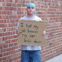 8 bezdomoveckých nápisů, které dokážou vydělat na vodku a cíga - hms2