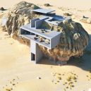 Co se stane, když spojíte pravěk a současnost? Podívejte se na návrh domu postaveného uvnitř skály - rock-house-concept-amey-kandalgaonkar-2