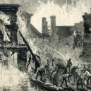 Hořící whisky proudila roku 1875 ulicemi Dublinu - illustration-of-the-dublin-whiskey-fire