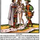 Pás cudnosti jako dárek pro nevěrnou manželku – takového daru se nebál jeden pařížský pekař - 16thc-German-woodcut-Chastity-belt