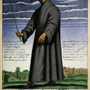 Kostým a vybavení morového doktora mu byly nejspíš k ničemu - Paul_Fürst,_Der_Doctor_Schnabel_von_Rom_(coloured_version)