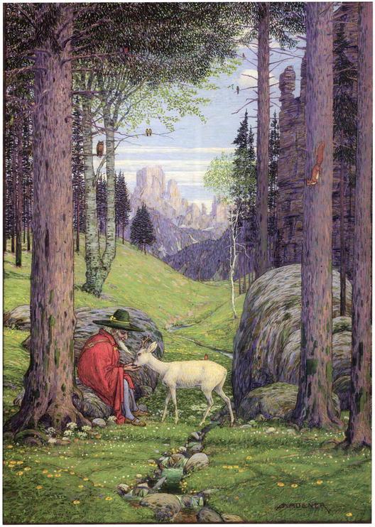 Der Berggeist: Gott, Erde und Ewigkeit (1925– 30), od Josepha Madlenera, hlavní inspirace pro Tolkienova Gandalfa.