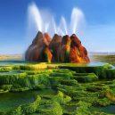 Zapomenutý gejzír Fly se za několik desetiletí změnil v halucinogenní sochu - article-2363926-1AD1D71B000005DC-535_964x934