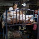 Klec jako domov – nedůstojné klaustrofobické bydlení nejchudších bohatého Hongkongu - smoking-bed