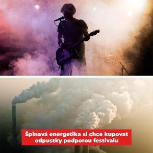 Koláž ze stránky Greenpeace k festivalu Praha žije hudbou