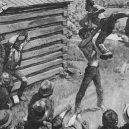Prezident Lincoln byl ve svém mládí úspěšným zápasníkem - lincoln-the-wrestler-illustration
