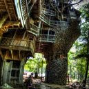 Obrovský stromový dům vyrůstal z mohutného dubu - The-Worlds-Biggest-Tree-House-by-Horace-Burgess-11