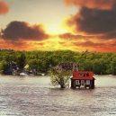 """Kuriózní osamocený domek """"plující"""" na hladině řeky - Just-Room-Enough-Island-4-1024×817"""