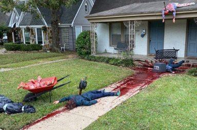 Američan Stevan Novak si na letošní Halloween vyzdobil svůj barák opravdu originálním způsobem.