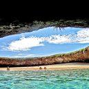 Playa del Amor – mexická pláž lásky, k níž se dostanete pouze za odlivu - 1004940136