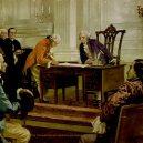 Gouverneur Morris – prominentní persona své doby, jež zemřela vlastní nepovedenou operací penisu - 1024px-Foundation_of_the_American_Government_by_Henry_Hintermeister